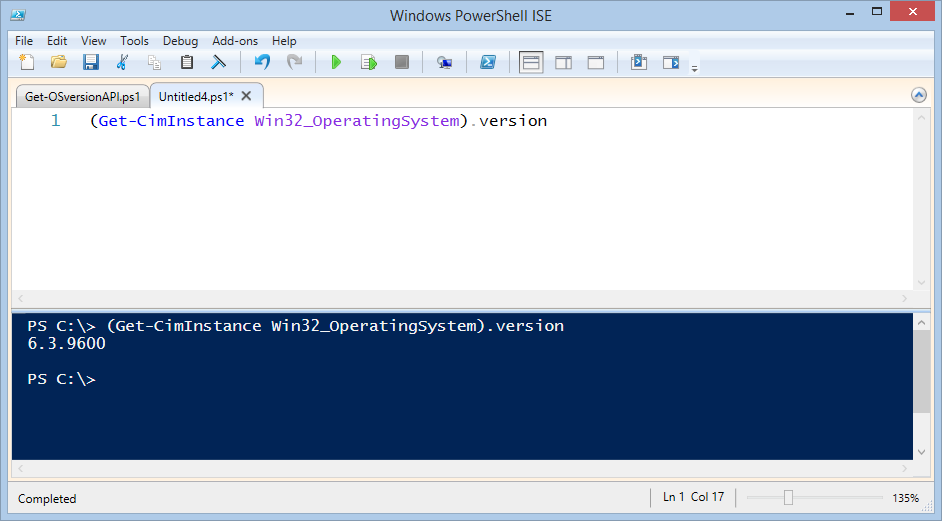 Powershell get os version remotely