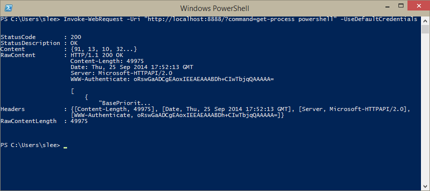 Simple HTTP api for Executing PowerShell Scripts | PowerShell