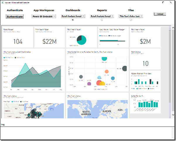 Integrate Power BI Dashboards, Reports and Tiles into a WPF