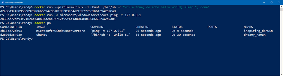 Running Docker Windows and Linux Containers Simultaneously