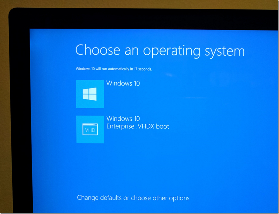Booting Windows 10 natively from a  VHDX drive file | Cesar