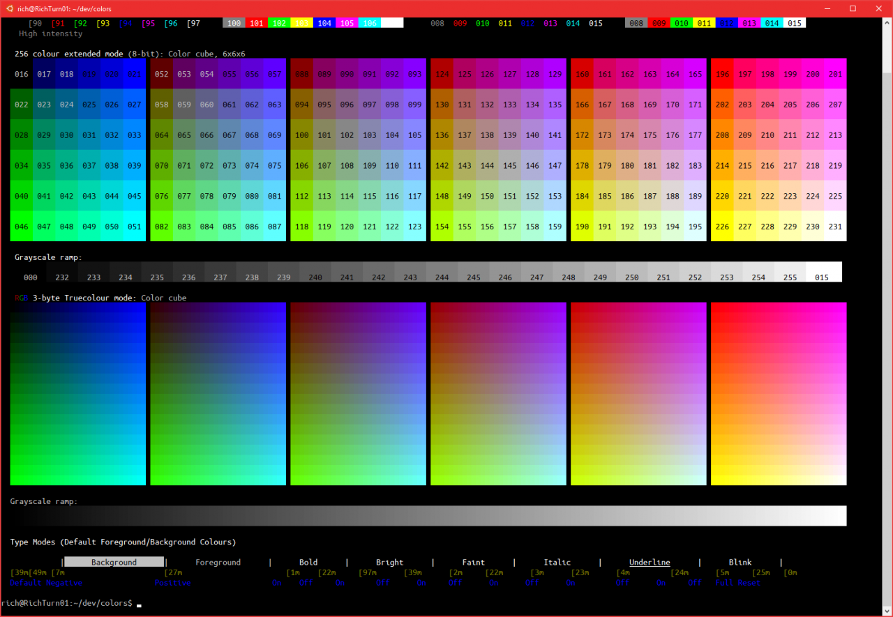 24-bit Color Grids