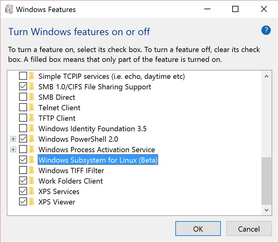 Developer Mode no longer required for Windows Subsystem for