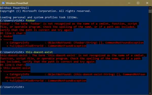 PowerShell assumes the background color is #0