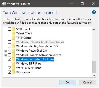 What's new in WSL in Windows 10 Fall Creators Update