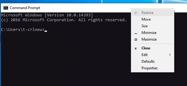 console window host multiple windows 10