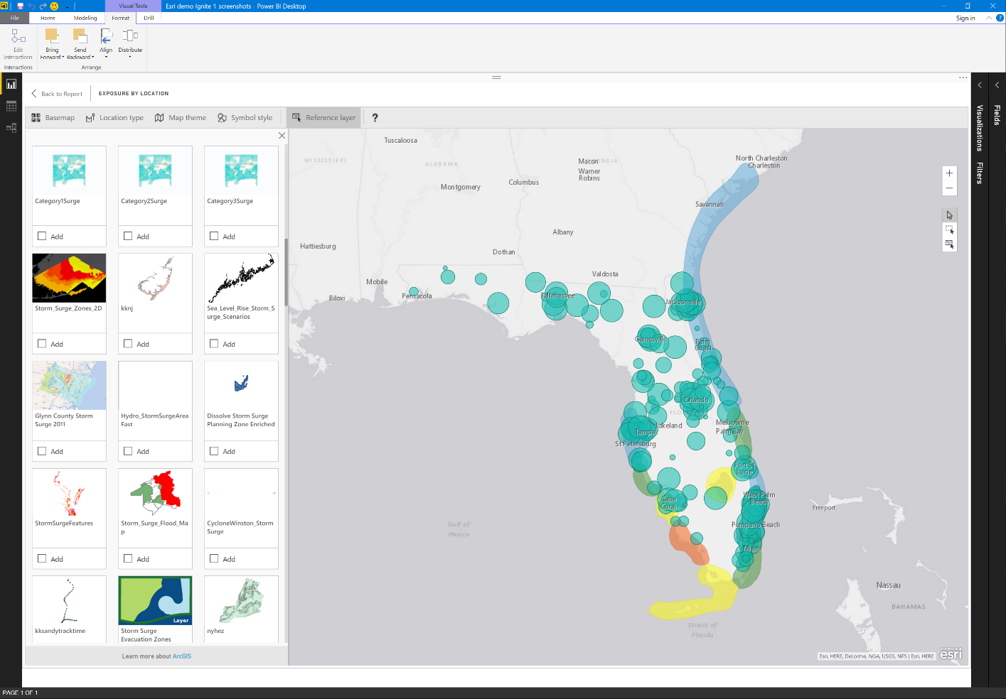 ArcGIS Maps for Power BI Gov by Esri now available | Azure