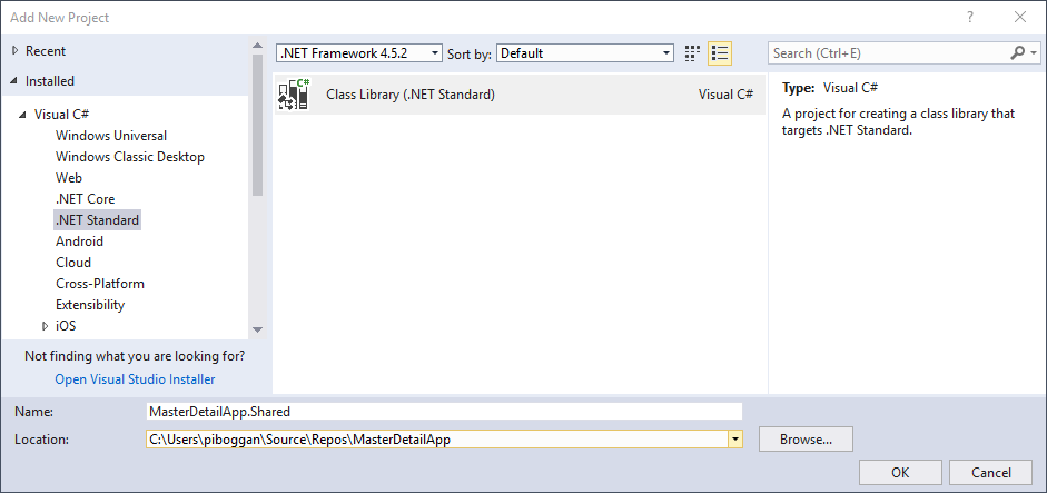 Add a .NET Standard library to your project.