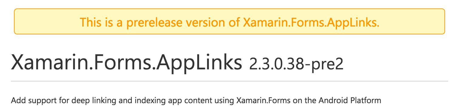Deep Link Content with Xamarin Forms URL Navigation