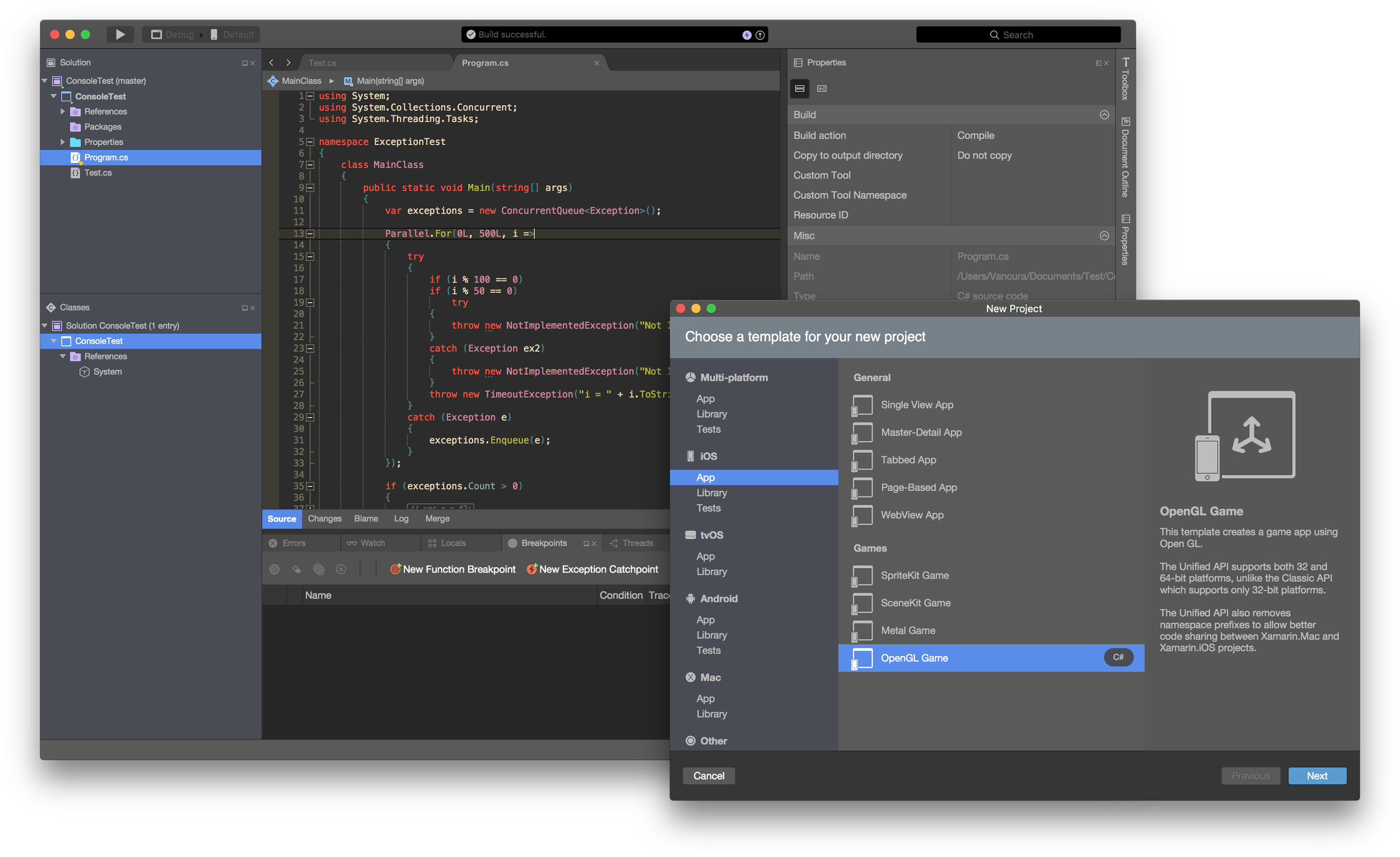 Dark Theme Xamarin Studio