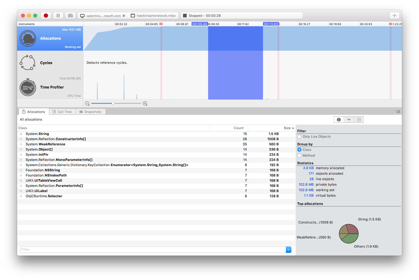 Profiler on Mac