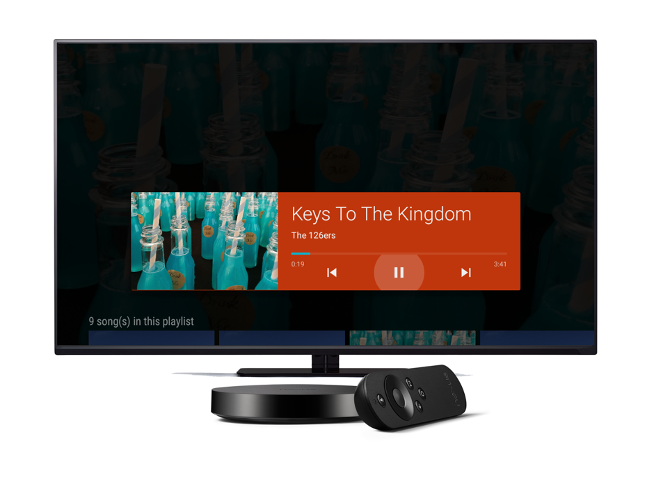 Audio controls on a TV with the MediaManager Plugin for Xamarin.
