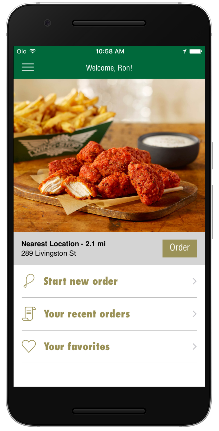 Wingstop App Screenshot