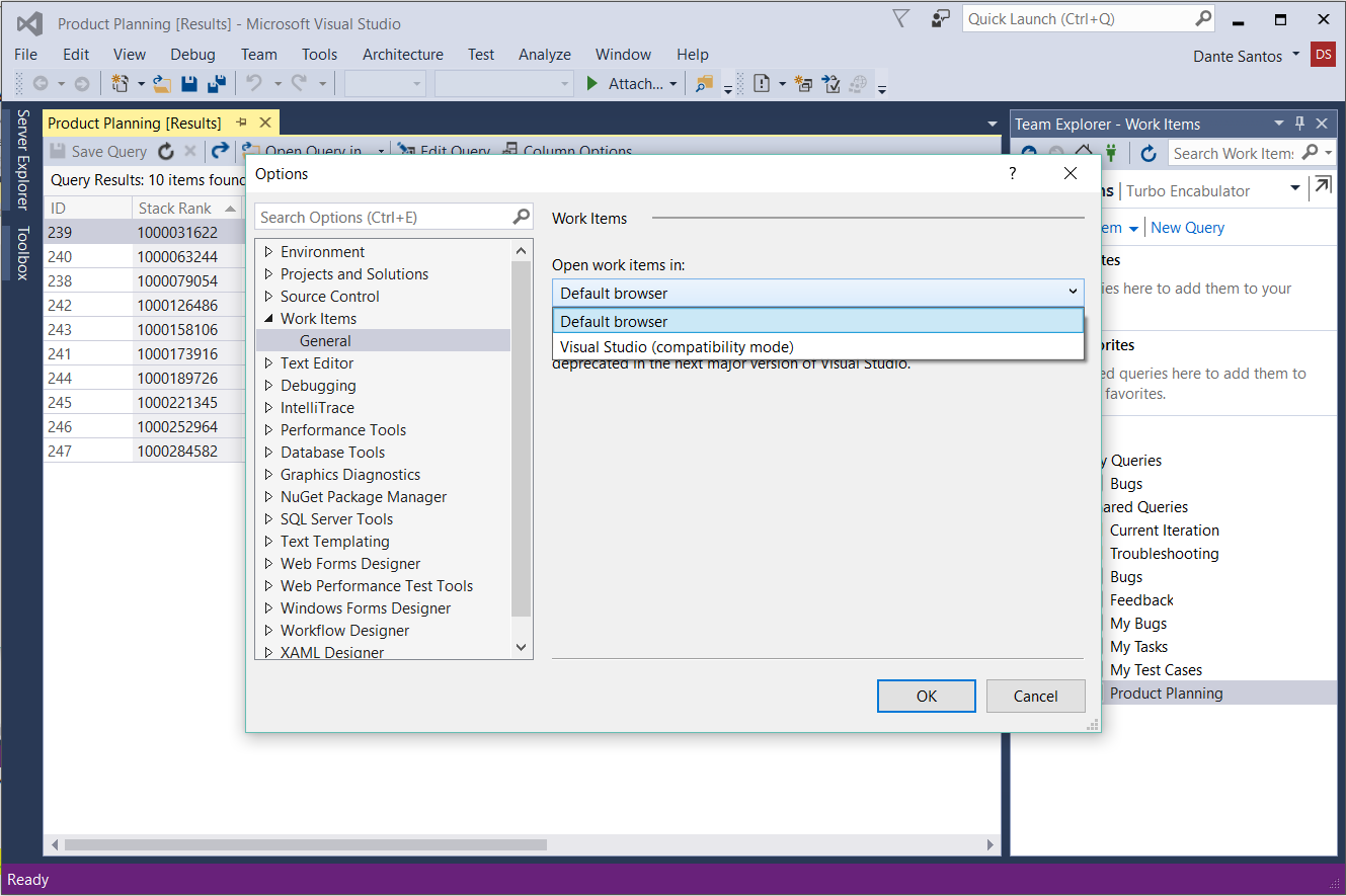 Work Items Now Open In The Web From Visual Studio 15 Azure Devops Blog
