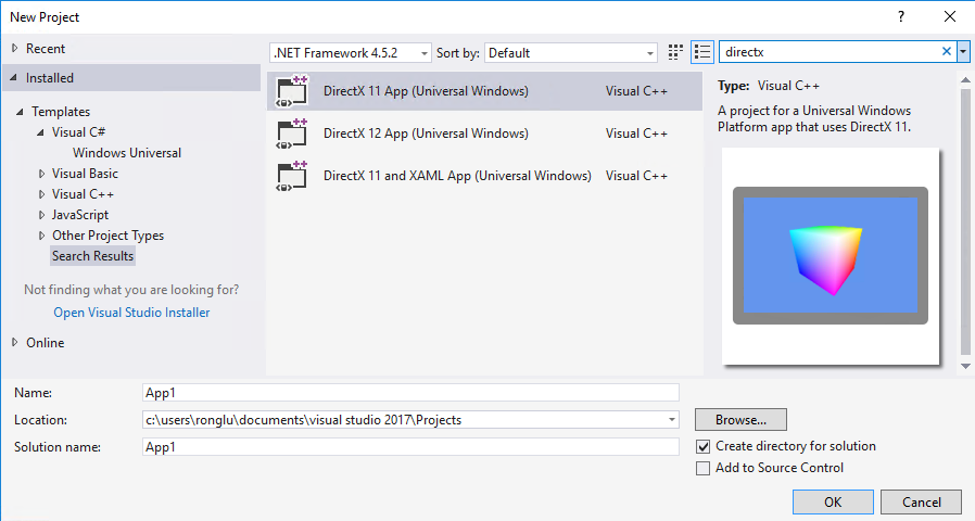 DirectX game development with C++ in Visual Studio | C++
