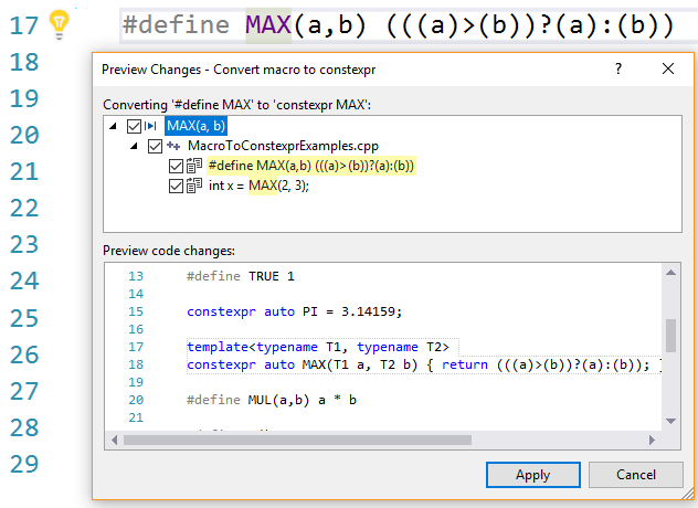 Function-like macro expressions