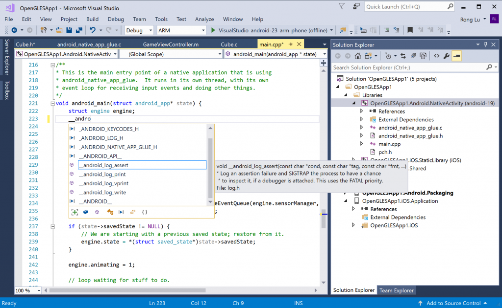 Android and iOS development with C++ in Visual Studio | C++