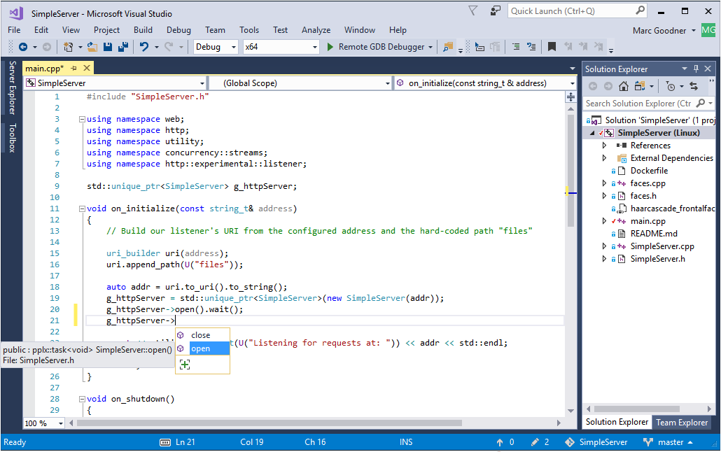 Linux development with C++ in Visual Studio | C++ Team Blog
