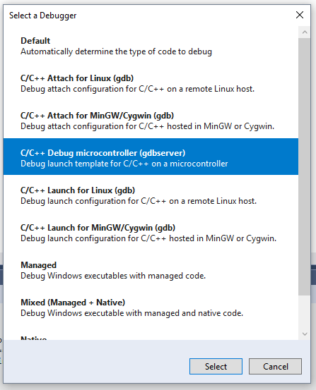 Debugging an embedded ARM device in Visual Studio | C++ Team Blog