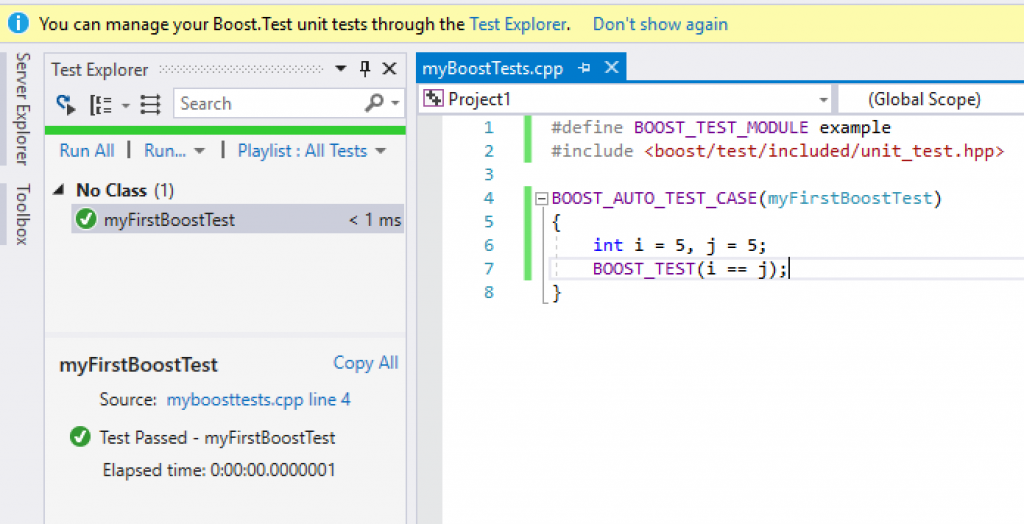 Unit Testing: Test Adapter for Boost Test goes in-box! | C++