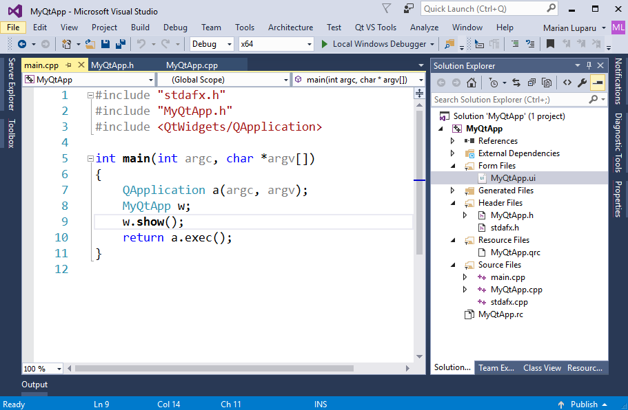 Bring your existing Qt projects to Visual Studio | C++ Team Blog