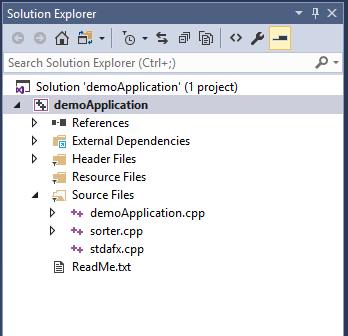 Solution Explorer Window