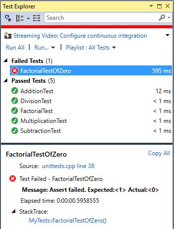 C++ Unit Testing in Visual Studio | C++ Team Blog