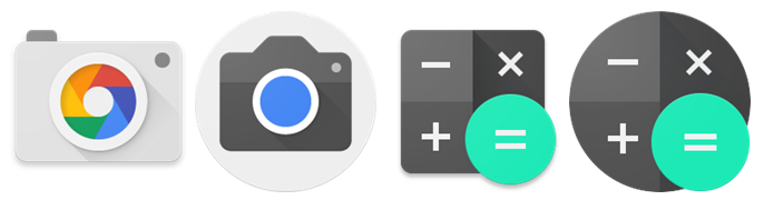 Round Launcher Icons in Android 7.1
