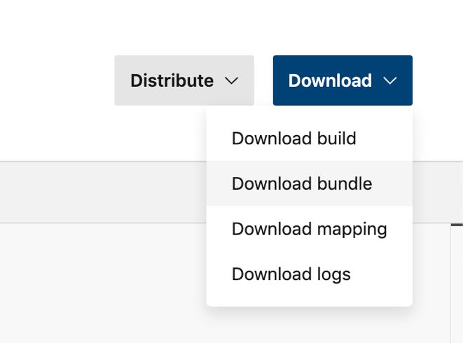 Download App Bundle App Center