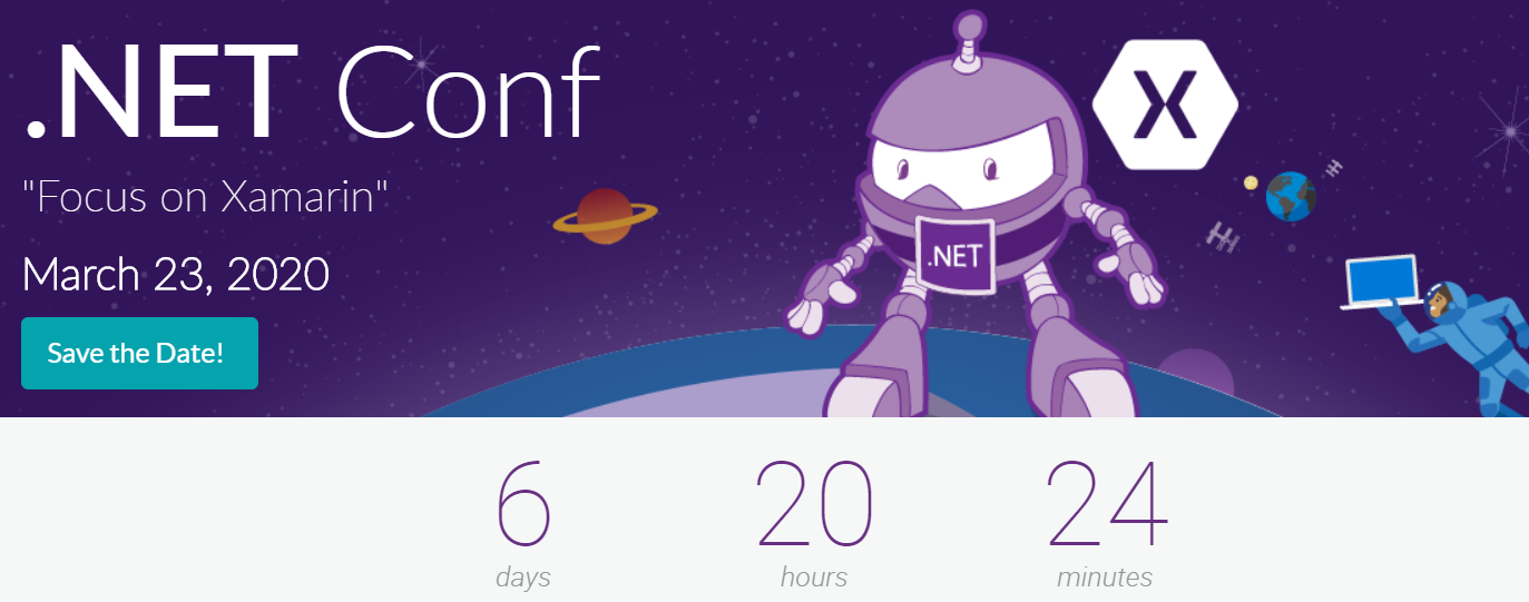 Xamarin Conf 6 Days Aways