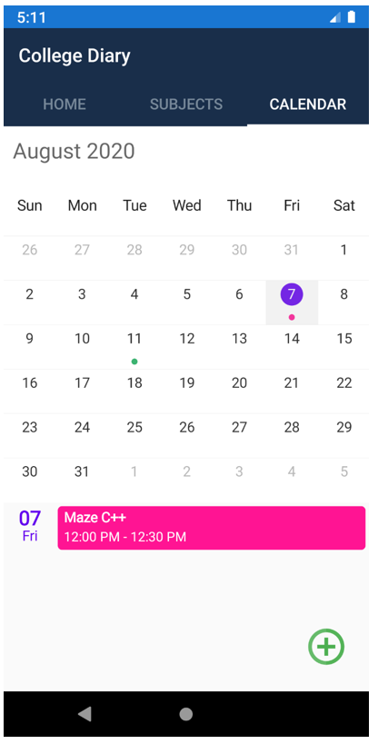 Image Full calendar view of events