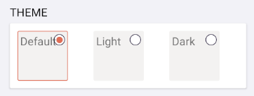 Radio buttons using template with just labels
